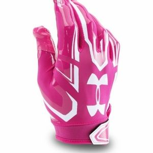 NWTPink Under Armour Youth Pee Wee Football Gloves